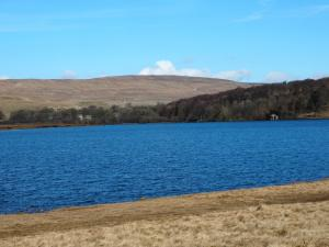 Looking across Malham Tarn towards Fountains Fell