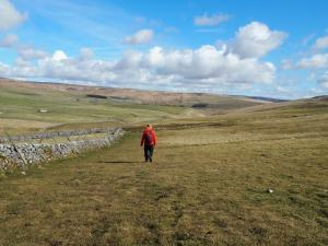 On the Pennine Way heading toward Tennant Gill Farm