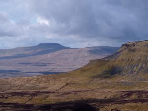 A close up of Ingleborough and Pen-y-Ghent