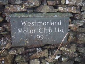 Westmorland Motor Club sign