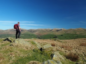 The superb view of the Howgill Fells from Knotts