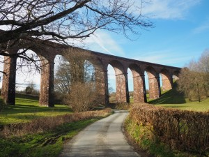 Approaching Lowgill Viaduct