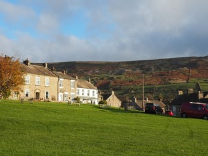 Fremington Edge above Reeth's village green