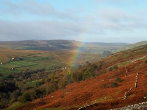 A rainbow in Arkengarthdale