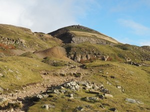 Looking back up at Fell End