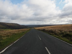 Crossing over Arkengarthdale Road