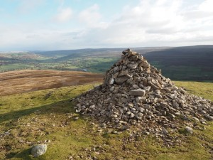 The cairn on the top of Calver Hill