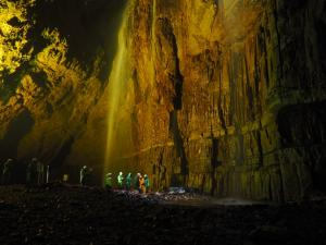 The magnificent main chamber of Gaping Gill