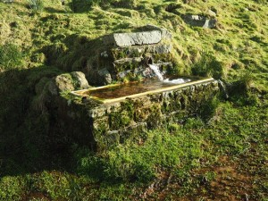 An old stone trough