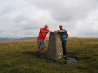 By the trig point on Gragareth