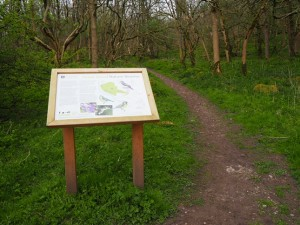 Information board at the entrance to Grass Wood