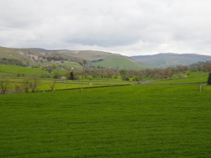 The open view of Wharfedale from the northern edge of the wood