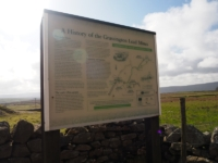 The information board at the start of the walk