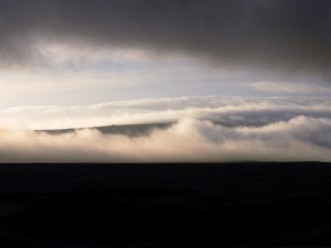 A cloud covered Thorpe Fell