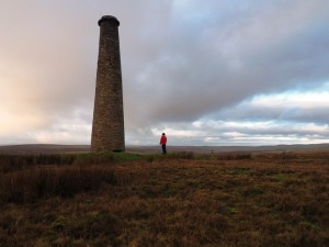 Below the chimney on Grassington Moor