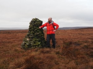 By the Mossdale Memorial Cairn on Priest's Tarn Hill