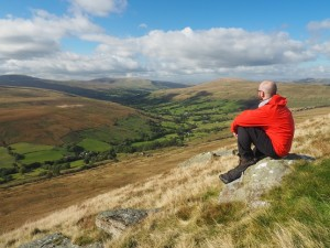 Enjoying the view of Dentdale