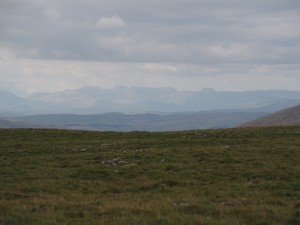 The Scafells from the top of Wold Fell