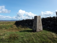 The trig point on Great Pinseat