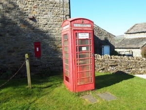 The telephone box in Caldbergh