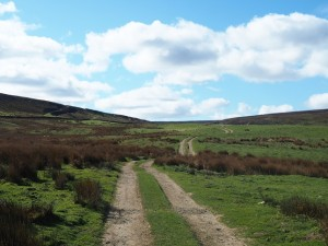 The Red Way as it climbs gradually up on to the moors