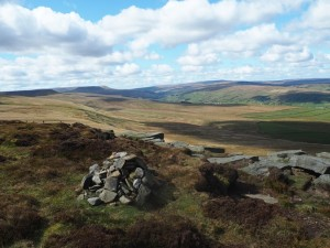 The view of Coverdale from the cairn on Great Roova Crags