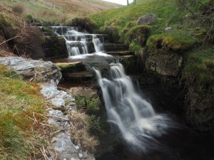 The attractive waterfall upstream from Great Force