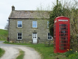 The village phone box in West Scrafton