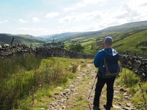 Paul looking back down over Swaledale