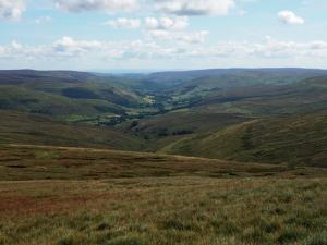 Looking back down to  Swaledale