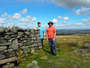 With Paul next to the trig point and wind shelter