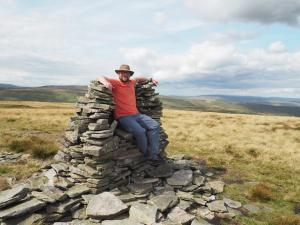 Enjoying the seat like cairn on Lovely Seat