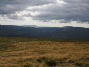 A distant Ingleborough and Whernside