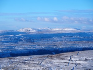 Ingleborough above Pen-y-ghent and Plover Hill
