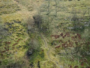 Looking across Caseker Gill to Dow Cave