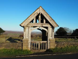 The wooden lychgate