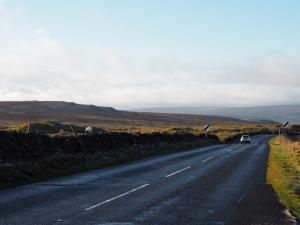 High Crag beyond the road to Grassington
