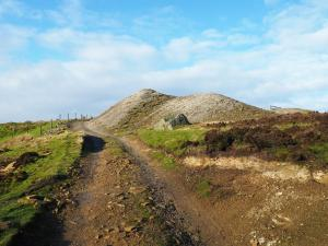 Spoil heaps on Merryfield Lead Mines