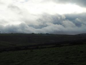 Clouds rolling in over Greenhow