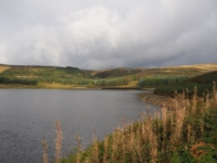 Looking back across the reservoir towards Blea Gill