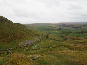 Looking back down into Malhamdale