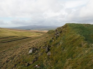 The modest limestone edge on Grizedales