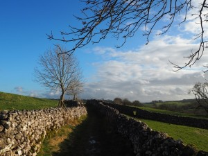 The lane leading back to Malham
