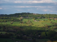The view across the valley towards Brimham Rocks