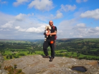 With Barry on one of the outcrops of Guise Cliff