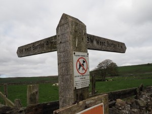 The choice of bridleways between Carlton and West Burton