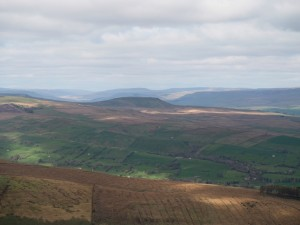 The distinctive shape of Addlebrough above Wensleydale
