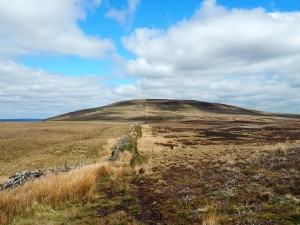 Looking back at Harland Hill