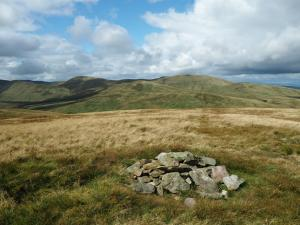 The top of Harter Fell looking towards Green Bell