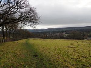 Looking back down to Addingham